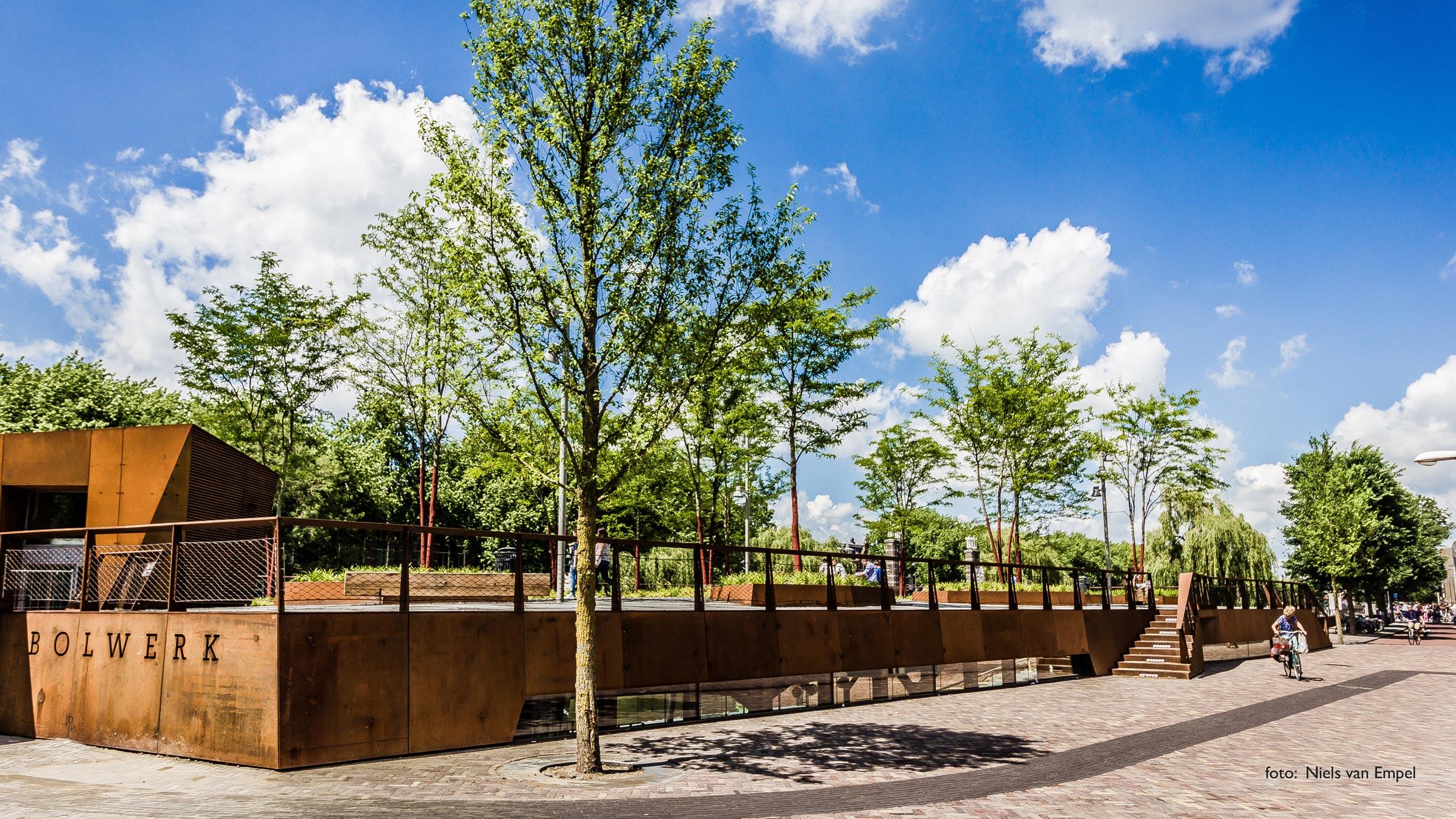 Dakpark, straat en steigers Bolwerk Sint Jan